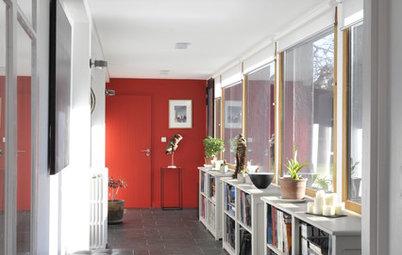 Un couloir plein de peps grâce aux astuces d'une architecte
