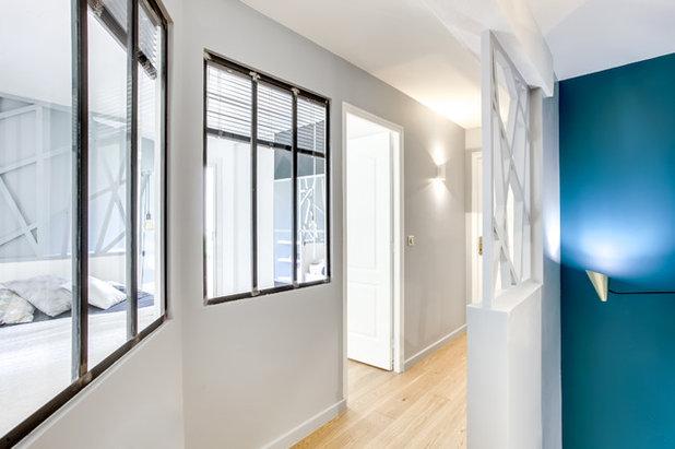 Contemporain Couloir by Aline Frémery Architecte d'intérieur