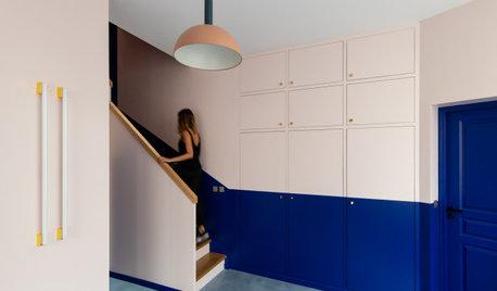 Прием: Цветной шкаф в интерьере