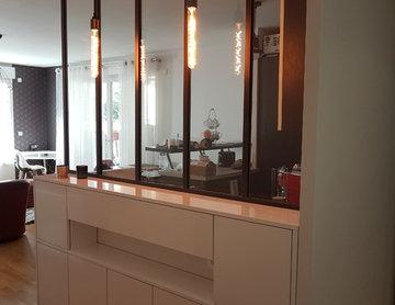 renovation entrée, cuisine et séjour
