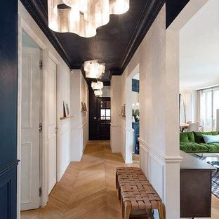 Midcentury hallway in Paris.