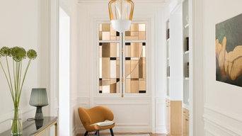 Vitrail contemporain/décoration d'intérieur