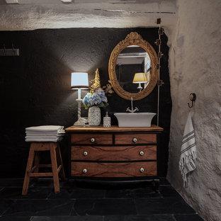 Salle de bain avec du carrelage en ardoise Espagne : Photos et idées ...