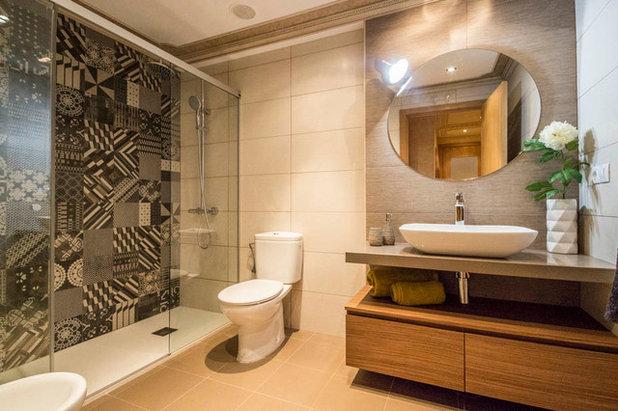 Contemporáneo Cuarto de baño by jaioneelizalde estilismo inmobiliario/Home Staging