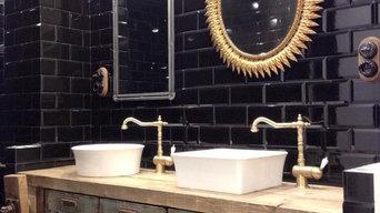 Baño de estilo industrial