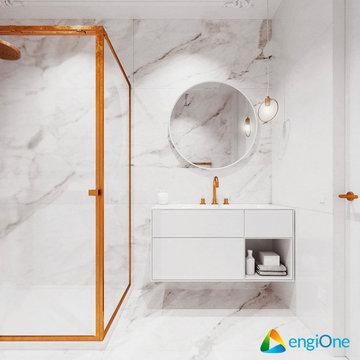 Baño dorado - Inodoro inteligente
