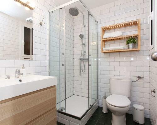Fotos de ba os dise os de ba os peque os con ducha esquinera for Esquineras para banos