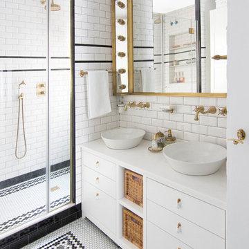 Baño vintage ¡Black&White!