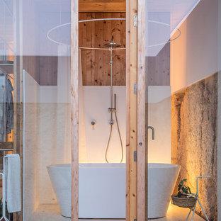 Свежая идея для дизайна: ванная комната среднего размера в средиземноморском стиле - отличное фото интерьера