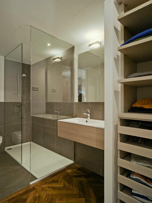Ideas para cuartos de ba o fotos de cuartos de ba o con - Banos con suelo de madera ...