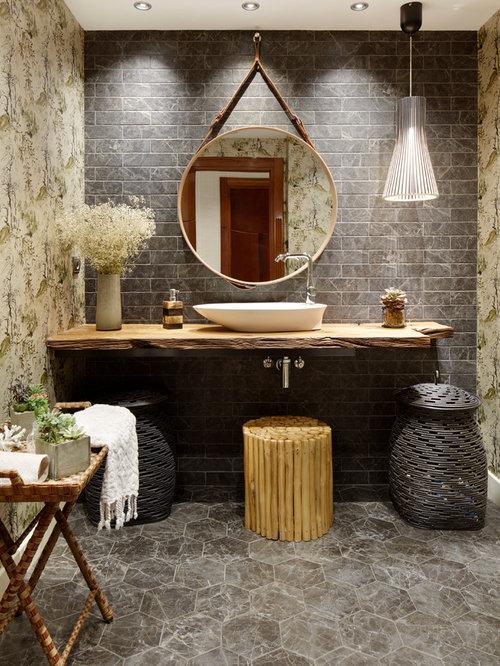 Foton och badrumsinspiration för asiatiska badrum i Annan