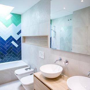 Fotos de baños   Diseños de baños con baldosas y/o azulejos azules
