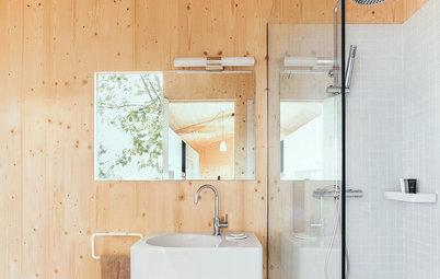 Más vale una imagen...: 7 baños pequeños de estilo nórdico
