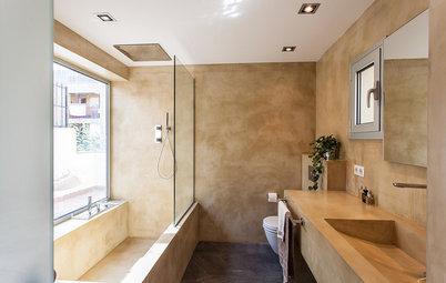 Más vale una imagen...: 7 baños de microcemento actuales