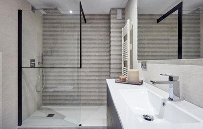 Un baño moderno y atemporal por 9.000 € para un piso en Madrid