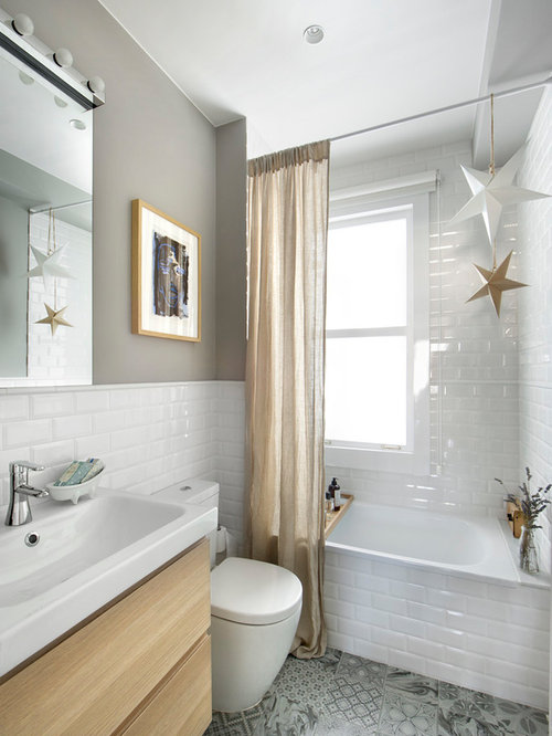 Interior Houzz Bathroom 30 best eclectic bathroom ideas houzz small master white tile and subway ceramic floor multicolored bathroom
