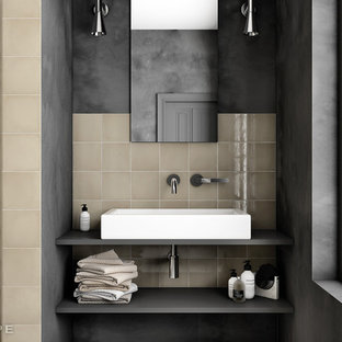 Example of a tuscan bathroom design in Other