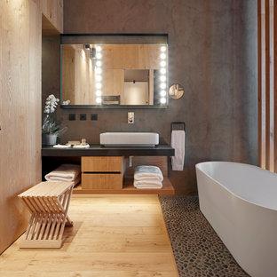 Foto de cuarto de baño microcemento rural