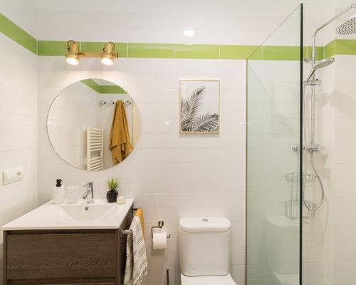 Bagno con piastrelle verdi spagna foto idee arredamento