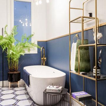 La personalización en un baño de diseño   Reforma Nobohome Provença
