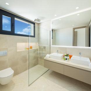 Salle de bain avec un carrelage beige Espagne : Photos et idées déco ...