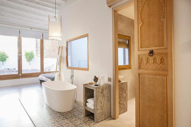 Mediterranean Bathroom Moderno Cuarto De Baño