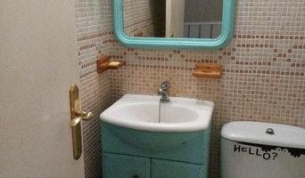 Mueble de baño pintado con chalk paint