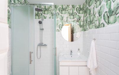 Los papeles pintados para el baño más bonitos de Houzz España