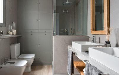 ¿Qué tipo de suelo es el más apropiado en un baño moderno?