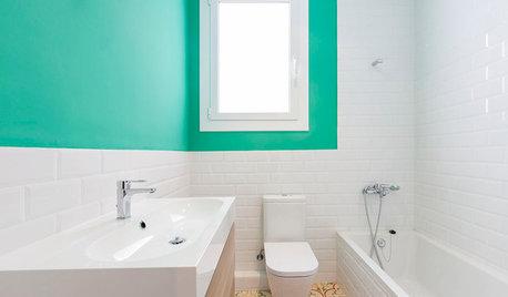 5 sencillos golpes de color que harán que tu baño parezca otro