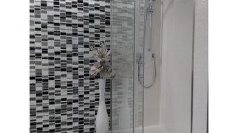 Reforma de cuarto de baño en blanco y Negro