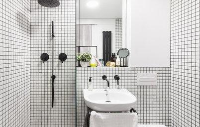Photothèque : 50 petites salles de bains et leurs astuces futées