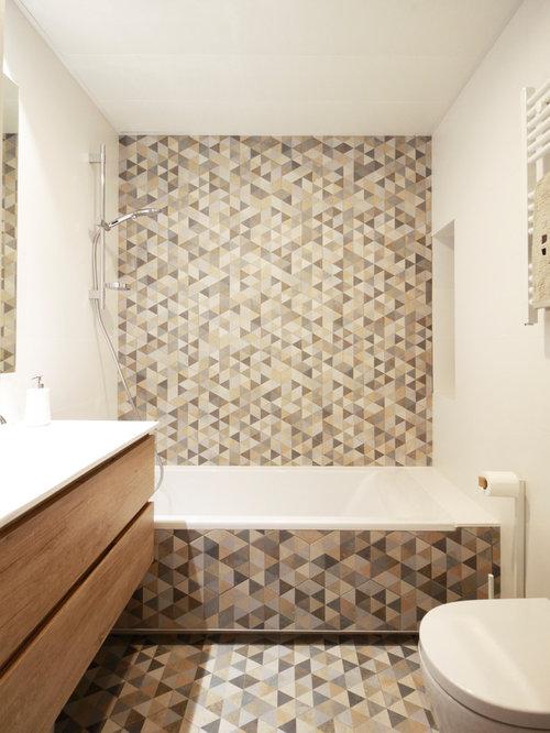 Fotos de baños   Diseños de baños pequeños con bañera empotrada