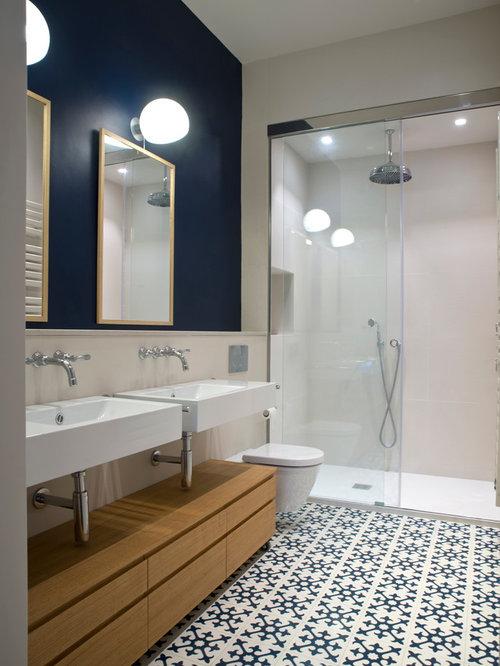 Fotos de cuartos de ba o dise os de cuartos de ba o for Azulejo hidraulico bano