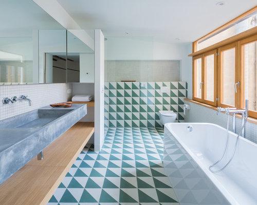 Foto e idee per bagni con piastrelle verdi spagna