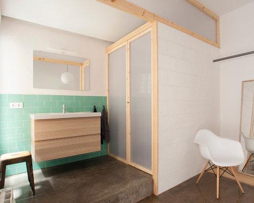 Salle de bain scandinave petit budget photos et id es for Carrelage salle de bain scandinave