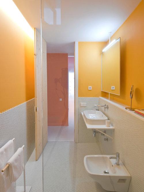 Salle d 39 eau avec une douche l 39 italienne et un bidet - Salle d eau a l italienne ...