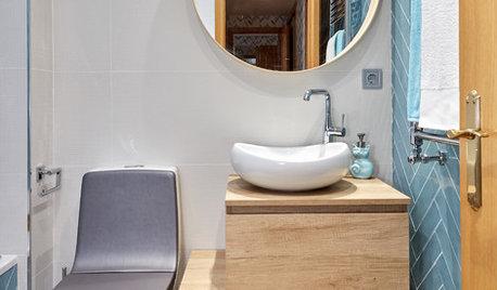 Houzz te ayuda: Cómo reformar dos baños pequeños en la misma casa