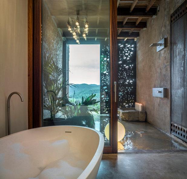 Farmhouse Bathroom by ZEST architecture