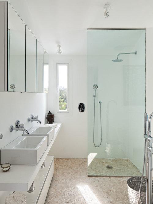 mediterrane badezimmer mit aufsatzwaschbecken design. Black Bedroom Furniture Sets. Home Design Ideas