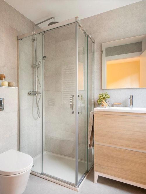 Fotos de baños | Diseños de baños pequeños con paredes beige