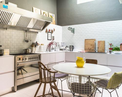 Foto e idee per cucine cucina - Piastrelle diamantate cucina ...