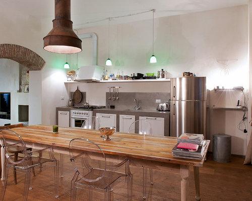 7 366 kitchen with concrete countertops design ideas for Houzz cucine