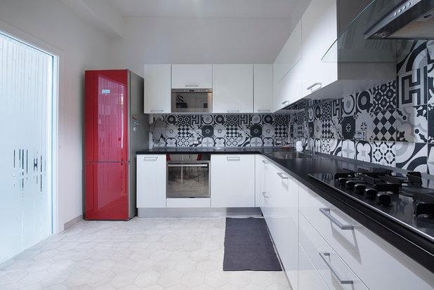Pavimento Bianco Colore Pareti : Oh là là! nuova personalità al solito pavimento bianco in cucina