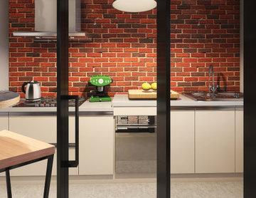 Appartamento da 55 mq stile industriale con terrazzo