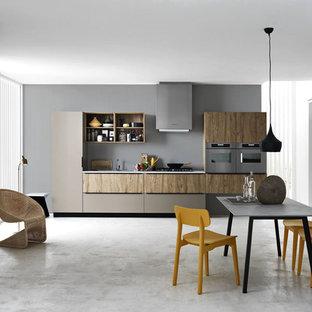 Modern kitchen photos - Example of a minimalist kitchen design in Venice