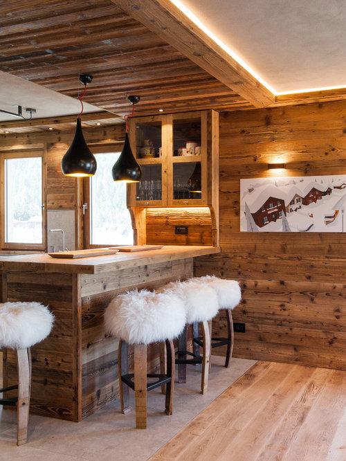 Foto e idee per cucine cucina in montagna - Cucine di montagna arredamento ...