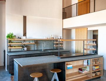 Attico a Trastevere - Cucina a doppia altezza