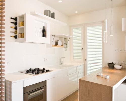 skandinavische k chen mit fl chenb ndigen schrankfronten ideen bilder. Black Bedroom Furniture Sets. Home Design Ideas