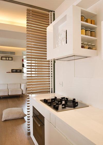 offene k che abtrennen mehr struktur durch lamellen vorh nge und co. Black Bedroom Furniture Sets. Home Design Ideas